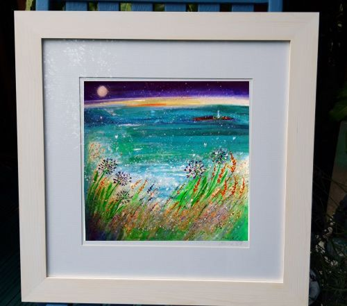 With love from Gwithian FRAMED print