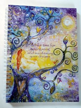 Make time for moon gazing notebook