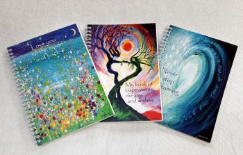 Three Notebooks  deal -  wave dancing trees  moon