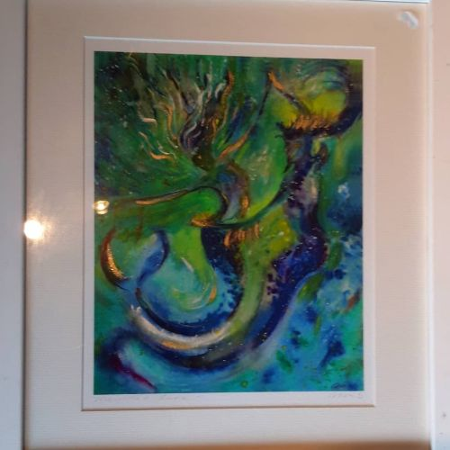 Mermaid dance..  FRAMED  print