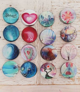 Set of FOUR Of your CHOICE Glass Art Coasters