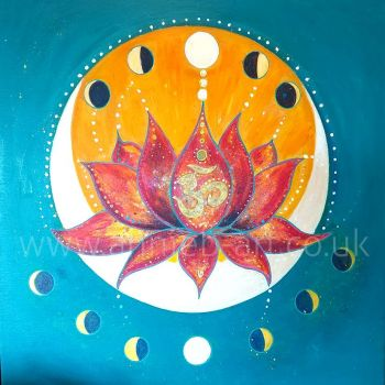 Moon phases original painting