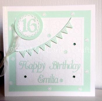 Handmade Personalised Daughter 16th Birthday Card