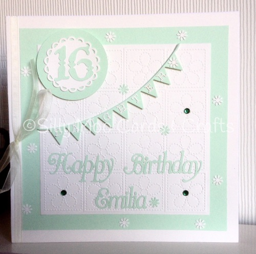 Handmade Personalised Daughter 16th Birthday Card