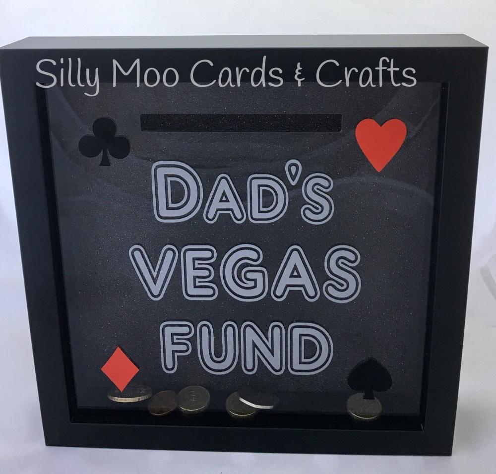 Dad S Vegas Fund Money Box Frame With Free Postage