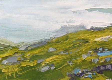 Grass, Rocks and Mist - Kentmere II