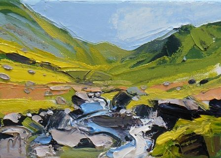 Beck and Blue sky at Hartsop Dodd