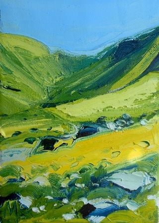 Green Valley at Hartsop Dodd - PRINT