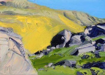 Hillside beyond Rocks I - PRINT