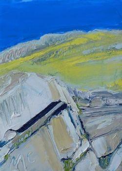 Hillside over Crag - PRINT