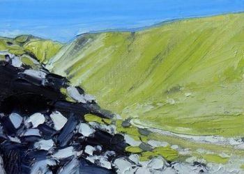 Rocks, Hillside and Shadows - PRINT