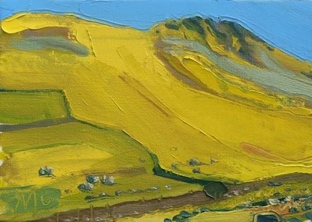 Yellow Hillside at Hartsop Dodd I - PRINT