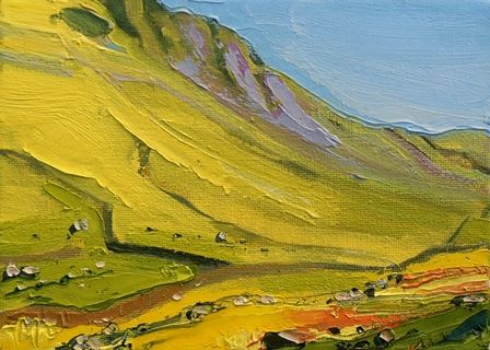 Yellow Hillside at Hartsop Dodd II - PRINT