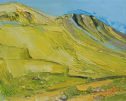 Yellow Hillside - Hartsop Dodd - PRINT