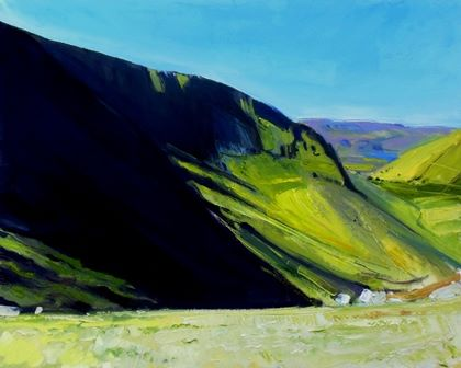 Hillside and Shadows at Hartsop Dodd II - PRINT