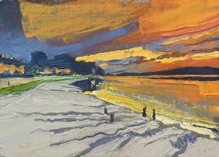 Orange Sunset at Arnside I - PRINT
