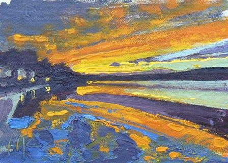 Orange Sunset at Arnside II - PRINT