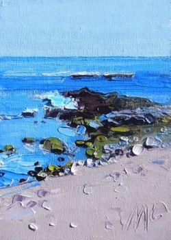 Sea and Rocks - Benalmedena - PRINT