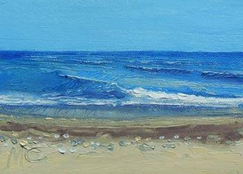 Sea and Waves - Benalmedena - PRINT