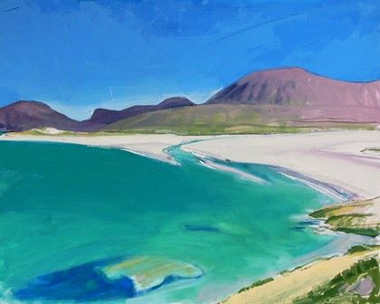Hebridean Green Waters and Clear Sky - PRINT