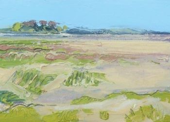 Sand and Grass at Bardsea - PRINT