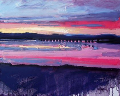 Sunset and Viaduct - PRINT