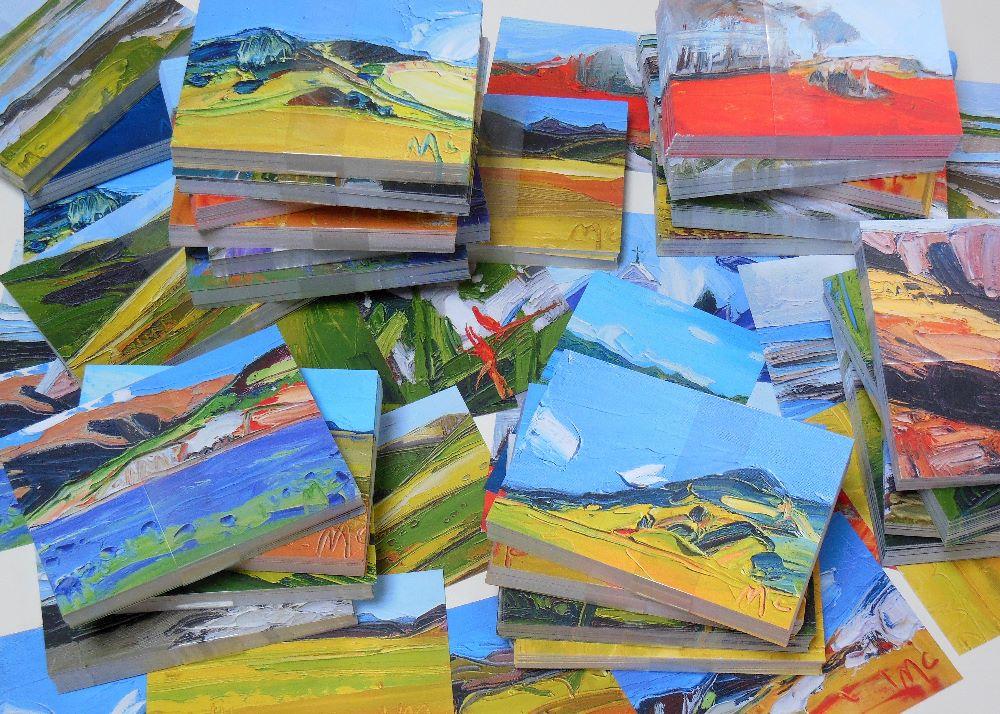 4 fine art postcard bundle