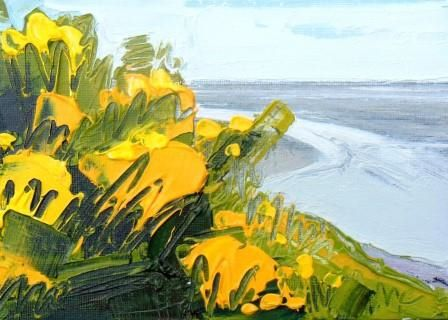 Gorse and Low Tide - PRINT