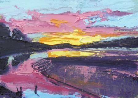 Pink Sunset at Arnside - PRINT