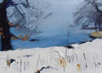 Snow by Misty Lake I - PRINT