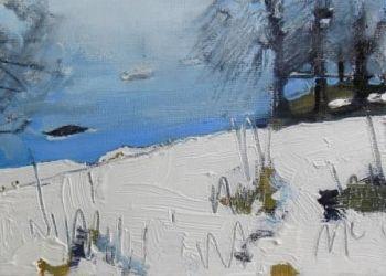 Snow by Misty Lake II - PRINT