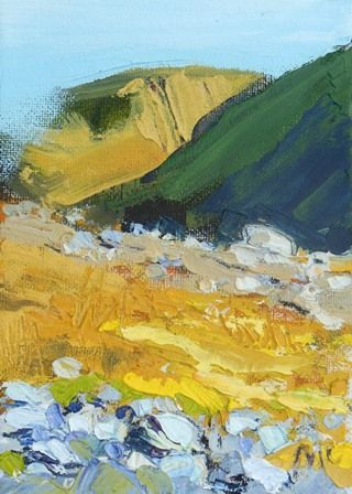 Yellow Grass and Mountains - Kentmere II