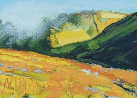 Yellow Grass and Mountains - Kentmere I - PRINT