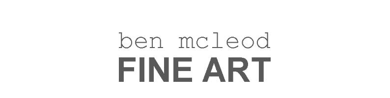 ben mcleod FINE ART, site logo.