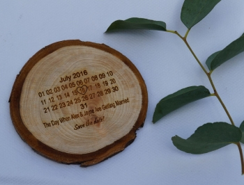 Save The Date Tree Slice Cards - Minimum of 10 ordered