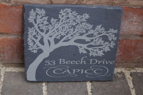 Slate House or Garden Signs