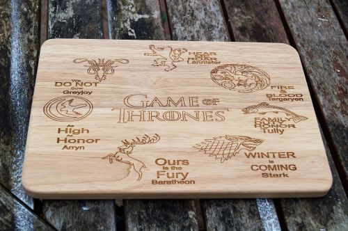 Game Of Thrones Wooden Cheese / Chopping Boards