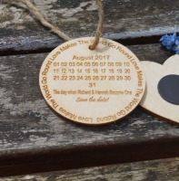 Wooden Save The Date Cards