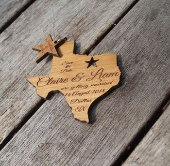 Texas Save the date magnets