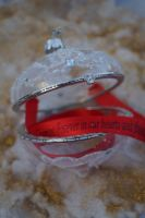 Glass opening bauble with Personalised ribbon, ways to propose, marry me