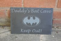 Personalised bat cave sign