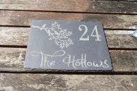 Personalised bird in branch house sign