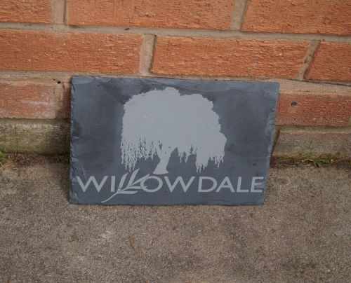 Personalised Magnolia Slate House Sign