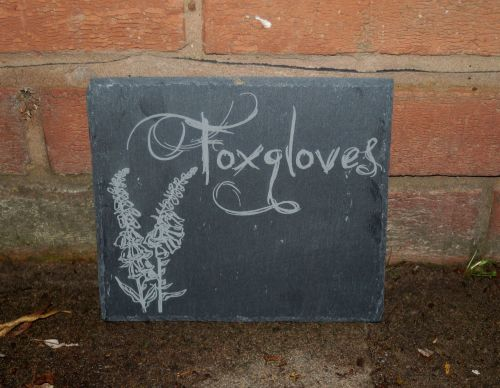Personalised Willow Tree Slate House Sign