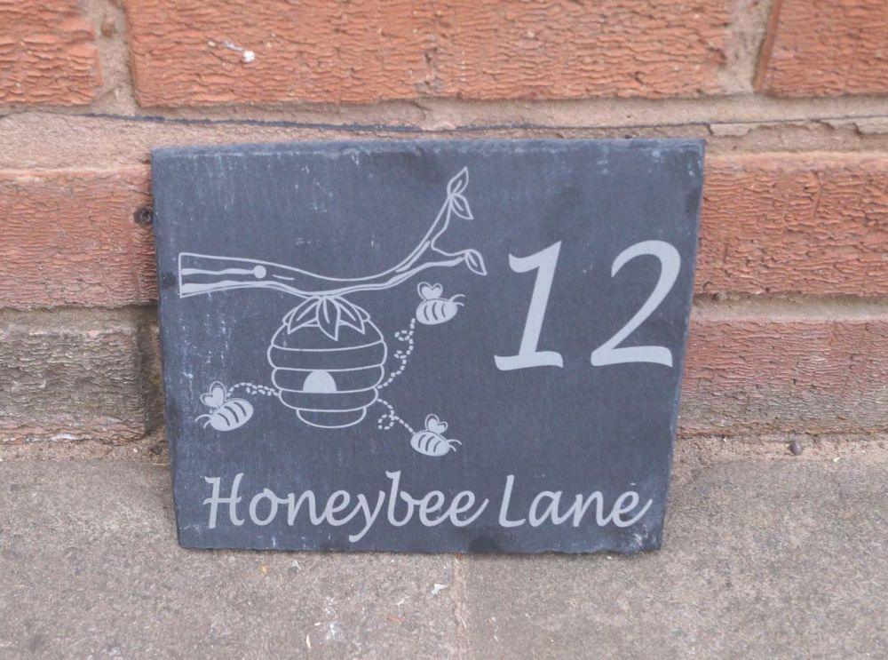 Personalised fox house sign