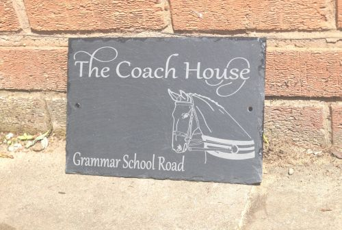 Personalised horse house sign