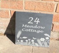 Personalised wild meadow house sign