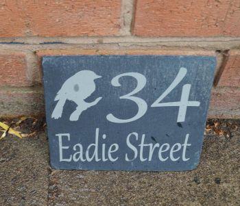 Personalised Magnolia Slate House Sign