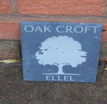 Personalised Oak Tree Slate House Sign