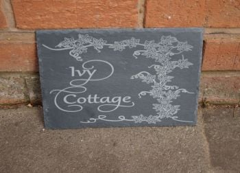 Personalised Ivy Slate House Sign